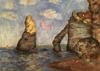 Student Piece: Pastel Copy of a Monet Painting