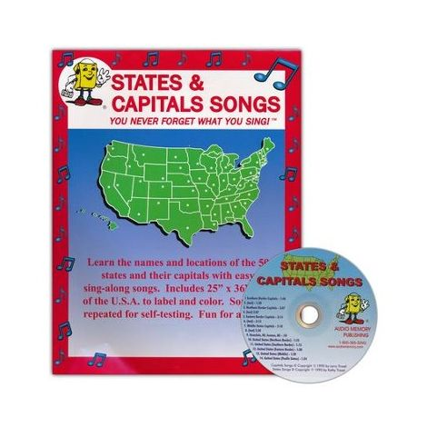 States and Capitals Songs Memory CD