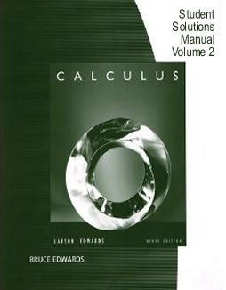 Calculus: Early Transcendental Functions Student Solutions Manual, Vol. 2