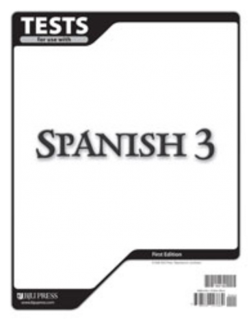 Spanish 3 Tests (for 1 student) - BJU