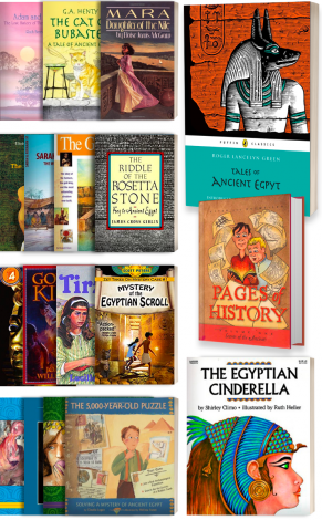 Old Testament & Ancient Egypt: Covers of the combined Level 1 & Level 2 Literature kits available from Veritas Press.