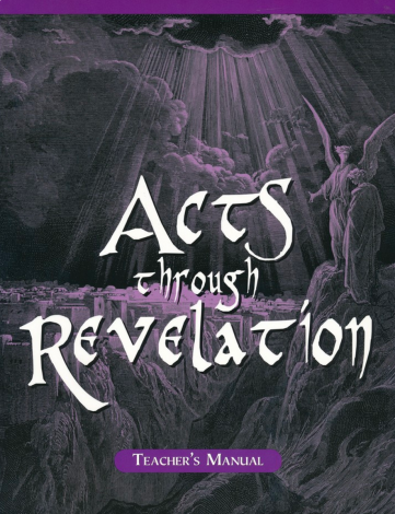 Acts to Revelation Teacher Manual | Veritas Press