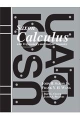 Cover: Saxon Calculus, Trigonometry & Analytic Geometry Sol. Manual