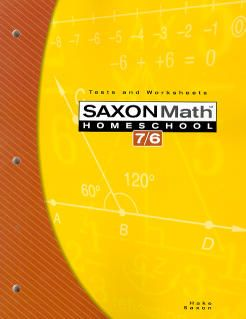 Saxon Math 76 Homeschool Tests and Worksheets, 4th Ed.