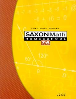 Saxon Math 76 Homeschool Solutions Manual