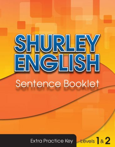 Shurley Levels 1 & 2 Sentence Booklet Key