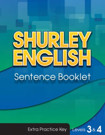 Shurley Levels 3 & 4 Sentence Booklet Key