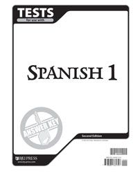 BJU Spanish I Test Answer Key | Veritas Press