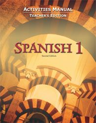 BJU Spanish I Activity Manual Teacher's Edition