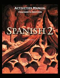 BJU Spanish II Activity Manual Teacher's Edition
